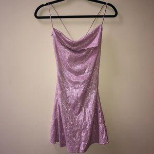 Lilac glitter dress